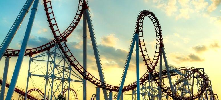 A rollercoaster.
