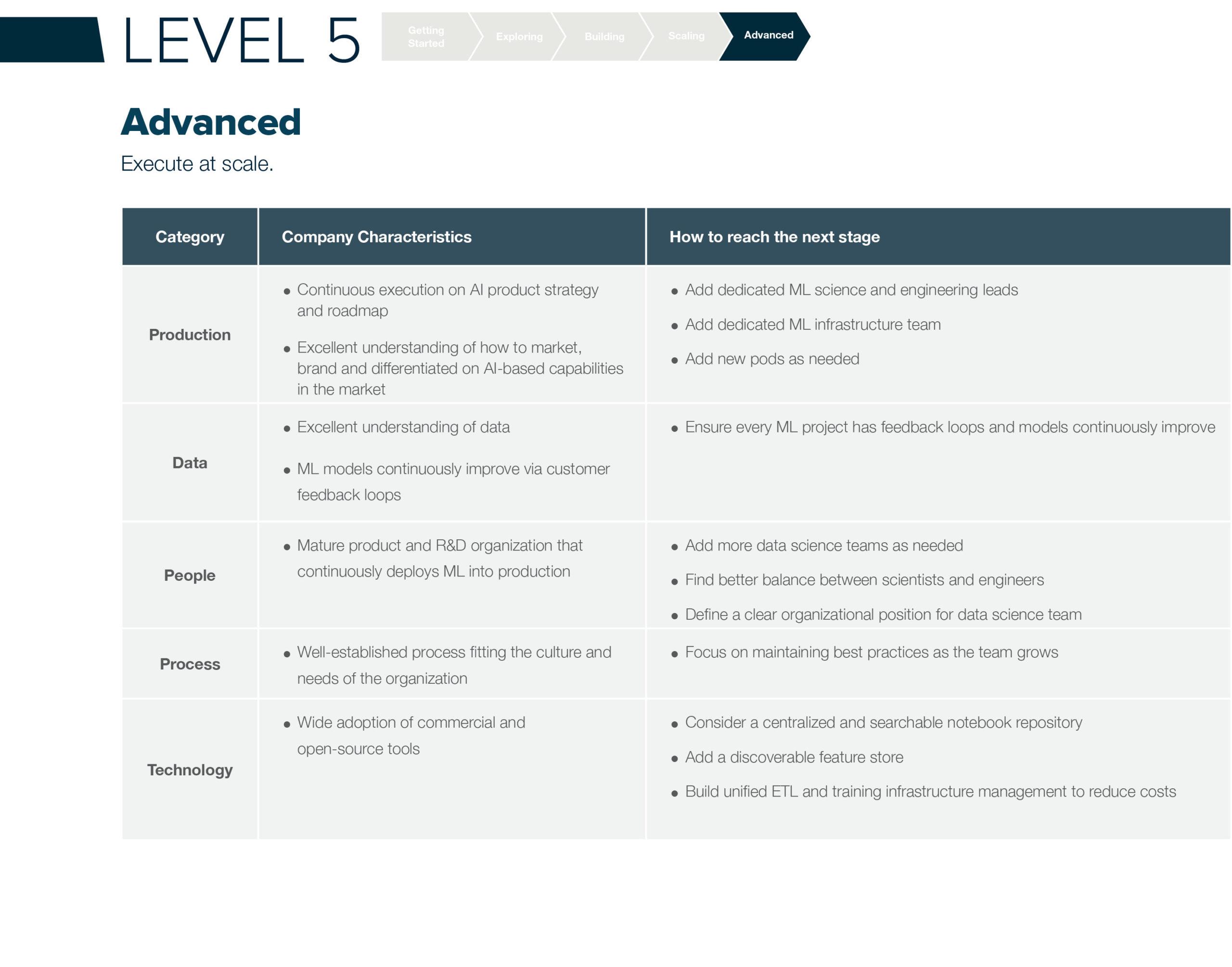 ML Maturity Level 5