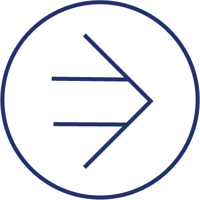 Go-to-market. A right-pointing arrow inside of a circle.