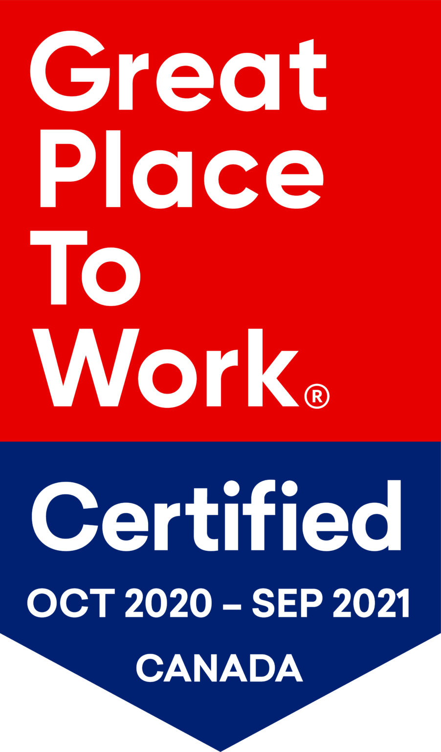 Great place to work Certified October 2020 - September 2021